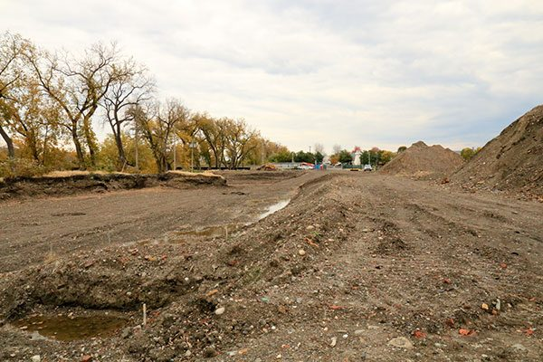 Site of the new Starbuck Island luxury apartments in Green Island NY