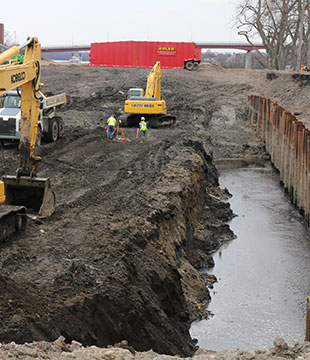 Luizzi Companies oil remediation excavation project