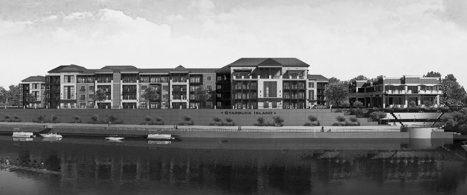 Rendering of Starbuck Island Luxury Apartments