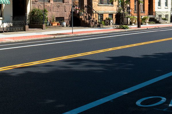 Ten Broeck Street in Albany NY, newly paved