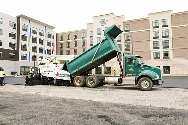 Luizzi Bros performs paving work at Homewood Suites in Albany NY