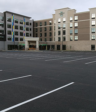 Homewood Suites paving project by Luizzi Bros