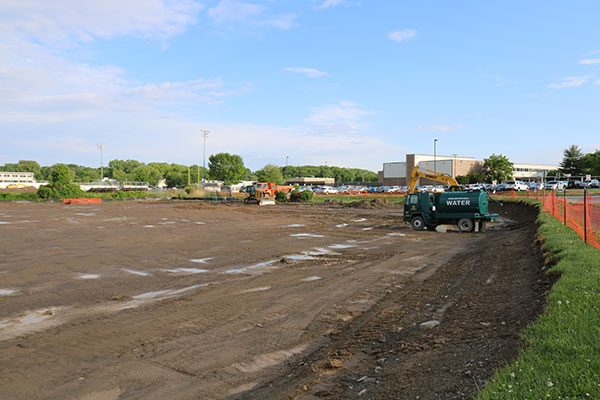 Excavated land at Colonie CSD