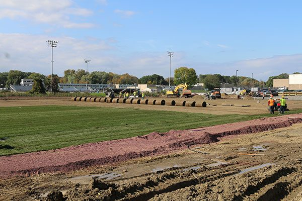 Reconstruction of Colonie CSD sod softball field