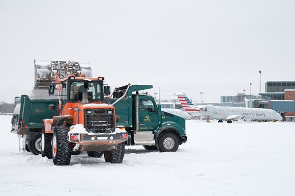 Luizzo Bros. performs snow removal at Albany County Airport