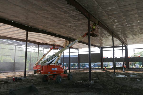 roof work from the unfinished interior
