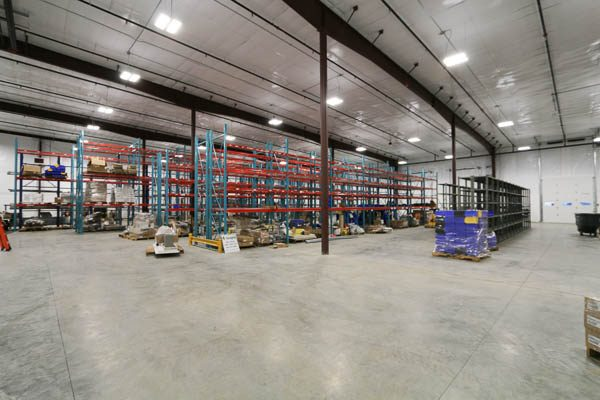 completed building interior warehouse