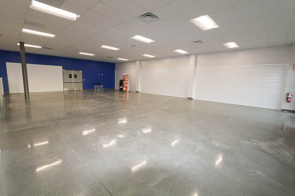 completed building showroom