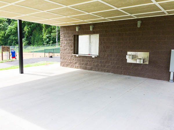 Concession Stand under the awning