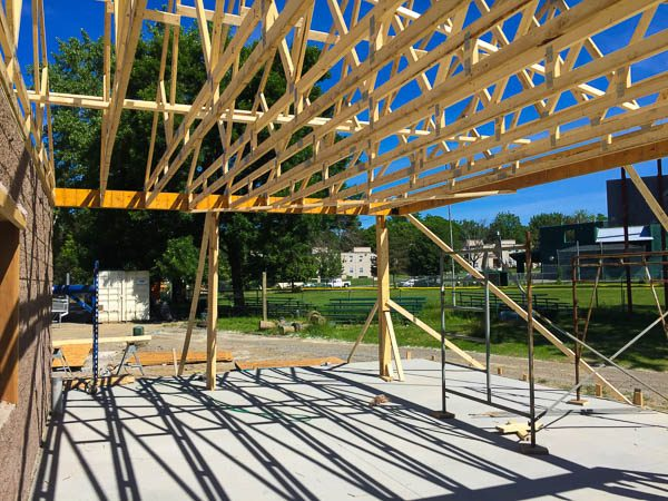Concession Stand roof frame work