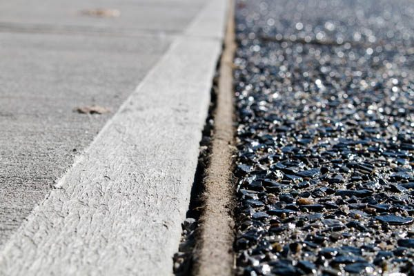 close up of sidewalk and cement