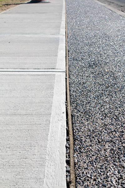 sidewalk and asphalt