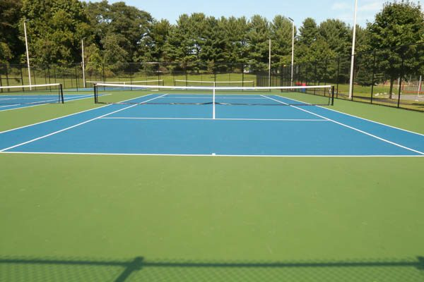tennis court finished