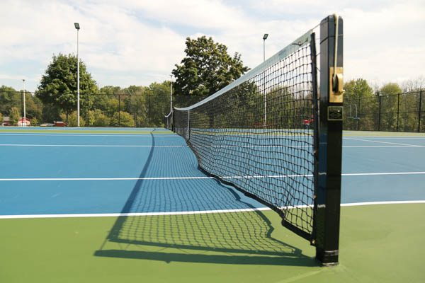 Center net of the tennis court