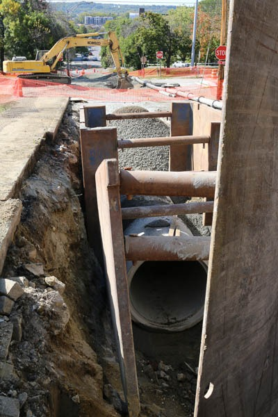 sewer pipe on Sage Ave
