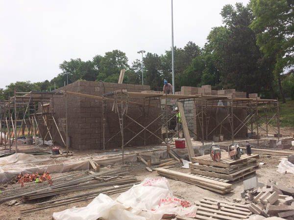 Concession Stand block walls