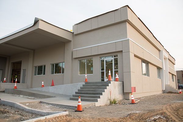 Main entrance to the Lennox building, under renovation