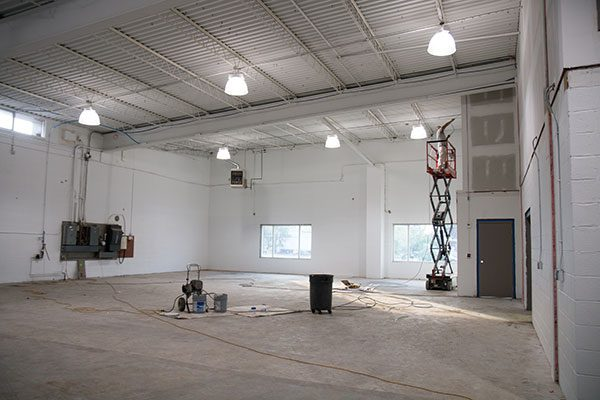 Interior view of Lennox building renovation project