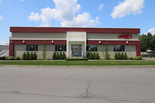 Front view of renovated Lennox office and warehouse in lAbany NY