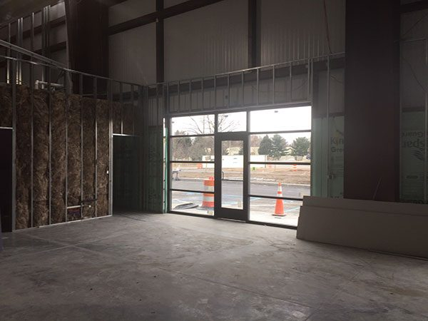 Interior view of front entrance, new construction