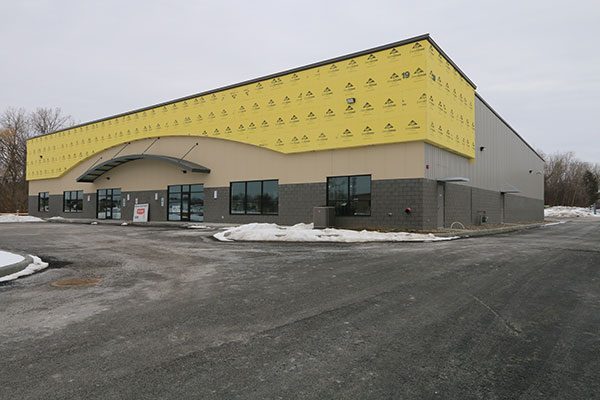 New commercial office and warehouse space, construction almost complete