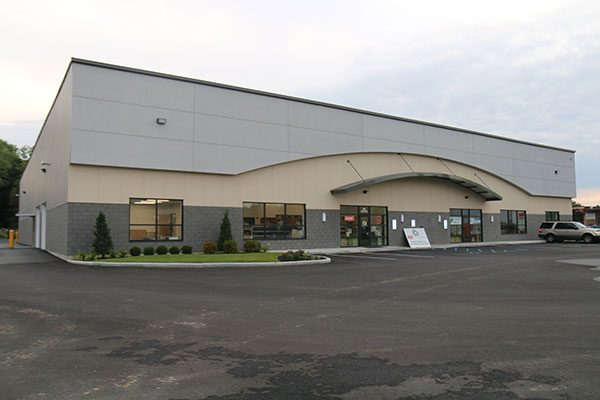 Completed Luizzi Construction Project: single story commercial office and warehouse space