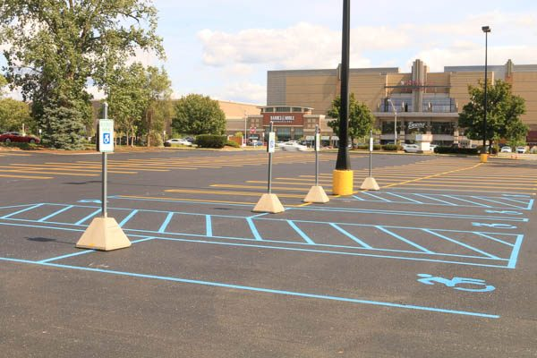 Handicapped area of parking lot