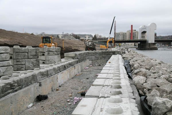Sea Wall Redi Rock installation