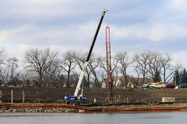 CD Perry driving Timber Piles
