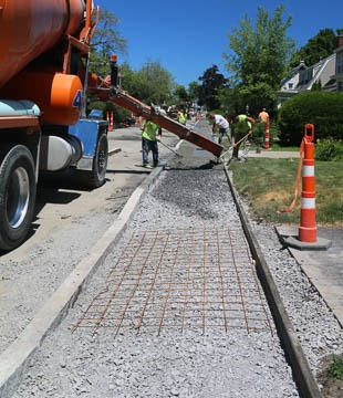 Decamp Ave sidewalk pour