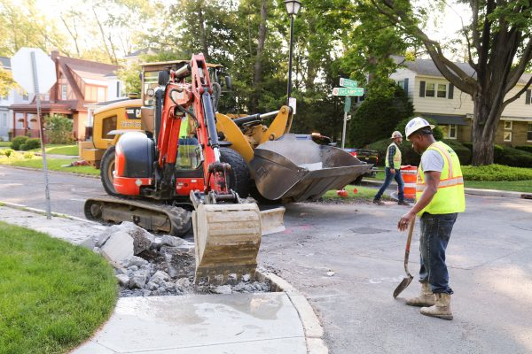 Decamp Ave sidewalk removal