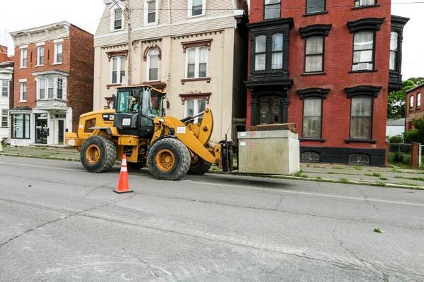 Transporting sewer box
