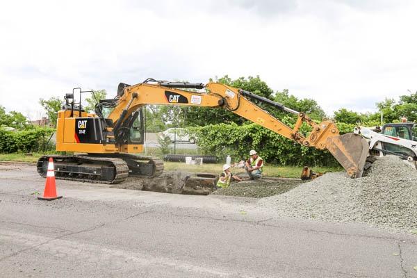 Watervliet Bike Path excavator