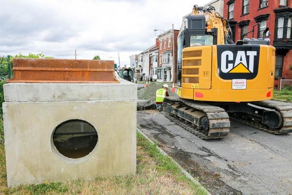 Watervliet Bike Path sewer drain